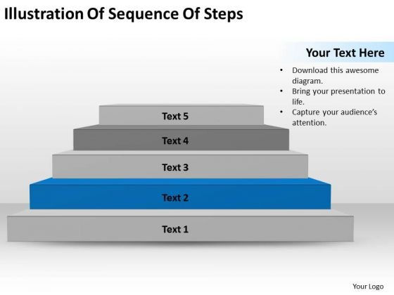 Illustration Of Sequence Steps Ppt Writing Business Plan Template PowerPoint Slides