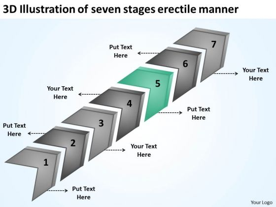 Illustration Of Seven Stages Erectile Manner Entertainment Business Plan PowerPoint Slides