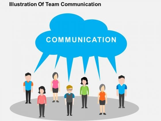 Illustration Of Team Communication PowerPoint Template