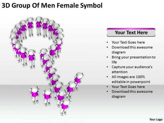 Images Of Business People 3d Group Men Female Symbol PowerPoint Slides