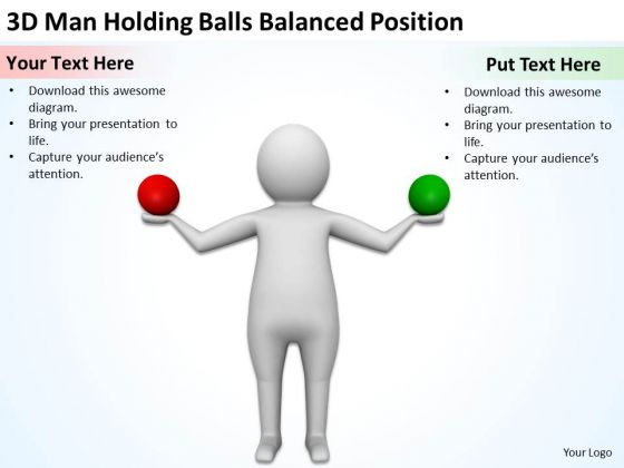 Images Of Business People 3d Man Holding Balls Balanced Position PowerPoint Slides