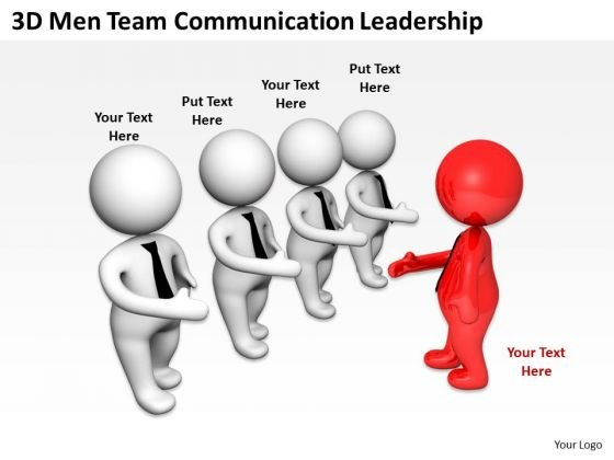 Images Of Business People 3d Men Team Communication Leadership PowerPoint Templates