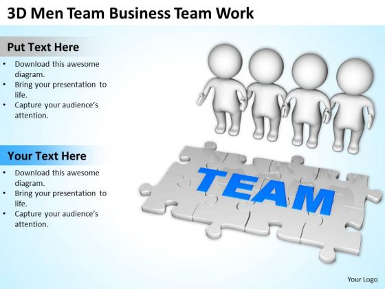 Images Of Business People 3d Men Team PowerPoint Theme Work Templates