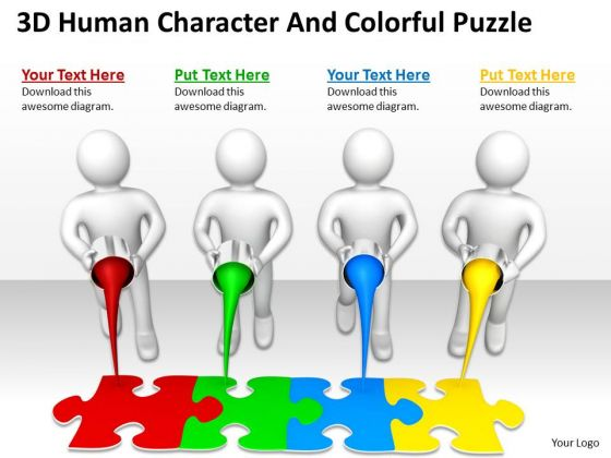 Images Of Business People And Colorful Puzzle PowerPoint Templates Ppt Backgrounds For Slides
