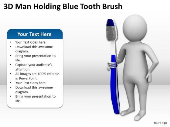 Images Of Business People Holding Blue Tooth Brush PowerPoint Templates Ppt Backgrounds For Slides