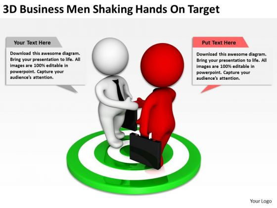 Images Of Business People PowerPoint Presentation Men Shaking Hands Target Slides