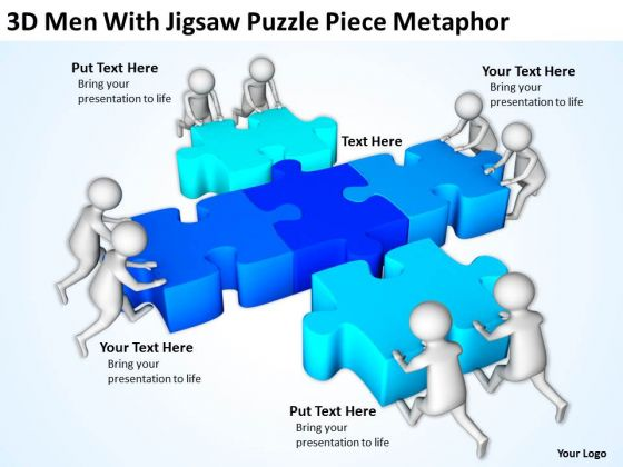 Images Of Business People Puzzle Piece Metaphor PowerPoint Templates Ppt Backgrounds For Slides