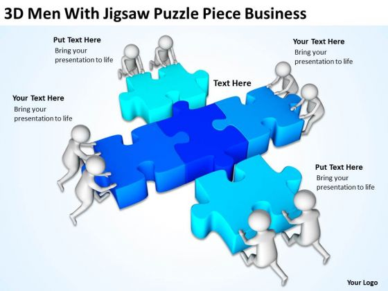 Images Of Business People Puzzle Piece PowerPoint Templates Ppt Backgrounds For Slides