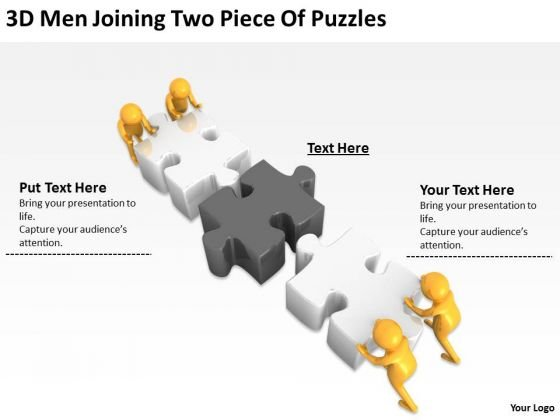 Images Of Business People Two Piece Puzzles PowerPoint Templates Ppt Backgrounds For Slides