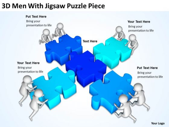 Images Of Business People With Jigsaw Puzzle Piece PowerPoint Templates Ppt Backgrounds For Slides