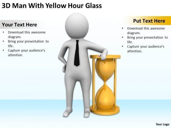 Images Of Business People With Yellow Hour Glass PowerPoint Templates Ppt Backgrounds For Slides
