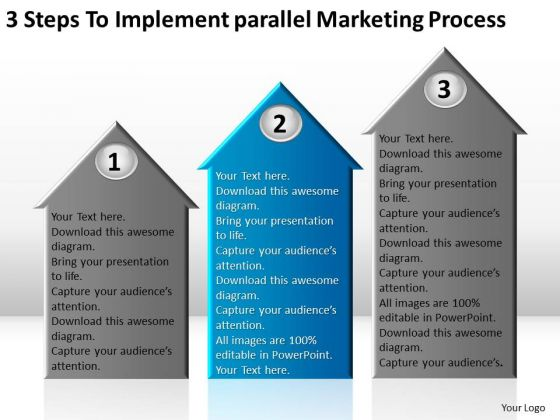 Implement Parallel Marketing Process Ppt Nonprofit Business Plan Template PowerPoint Slides