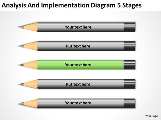 Implementation Diagram 5 Stages Business Plan Executive Summary Example PowerPoint Templates
