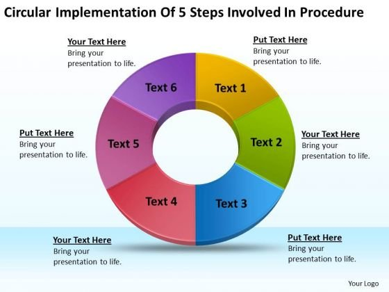 Implementation Of 5 Steps Involved Procedure Business Plan Online PowerPoint Templates