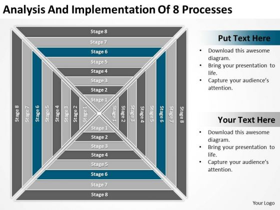 Implementation Of 8 Processess Ppt Business Proposals Examples PowerPoint Templates