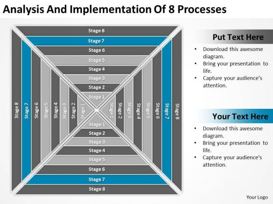 Implementation Of 8 Processess Ppt Great Business Plan Examples PowerPoint Templates