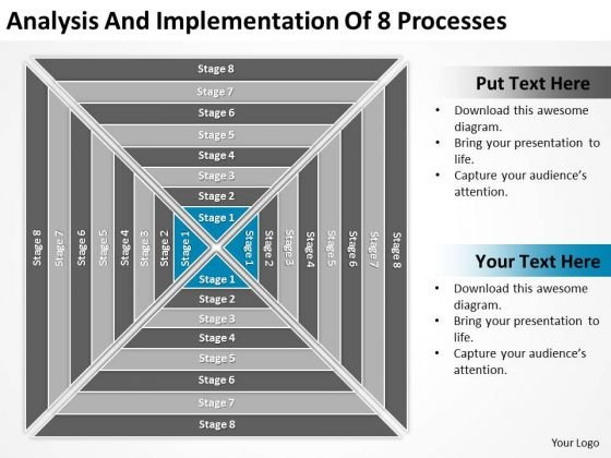 Implementation Of 8 Processess Ppt Transportation Business Plan PowerPoint Templates