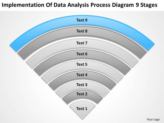 Implementation Of Data Analysis Process Diagram 9 Stages Ppt Business Plan PowerPoint Templates