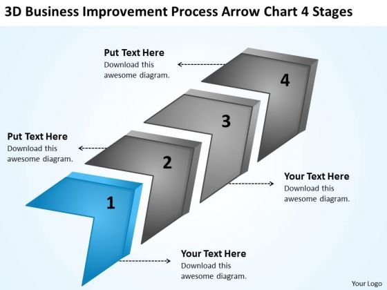 Improvement Process Arrow Chart Stages Franchise Business Plan - Business plan franchise template