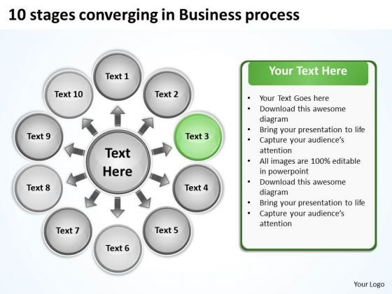 In Business PowerPoint Presentations Process Circular Chart Slides