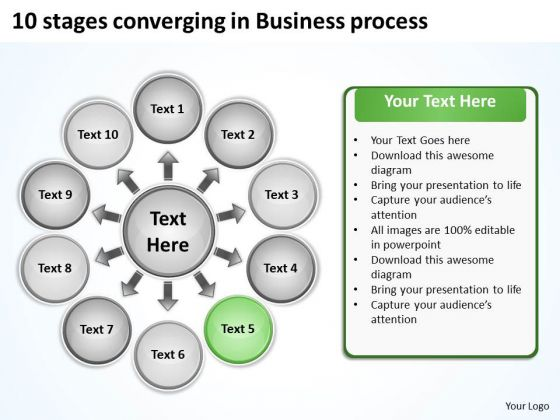In Business PowerPoint Templates Download Process Circular Flow Diagram Slides