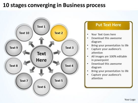 In Business PowerPoint Templates Free Download Process Radial Diagram Slides