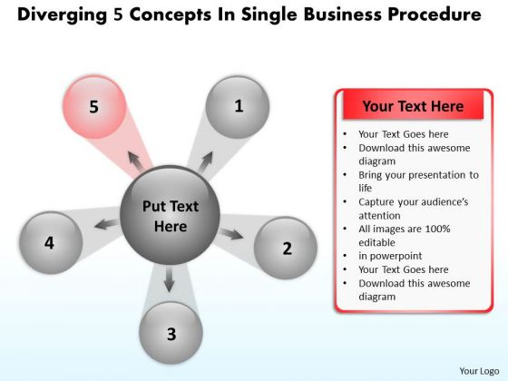 In Single Business PowerPoint Theme Procedure Circular Arrow Diagram Slides
