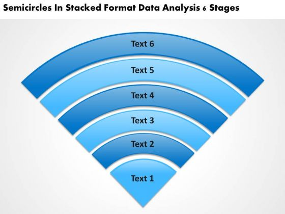In Stacked Format Data Analysis 6 Stages Agency Business Plan PowerPoint Templates