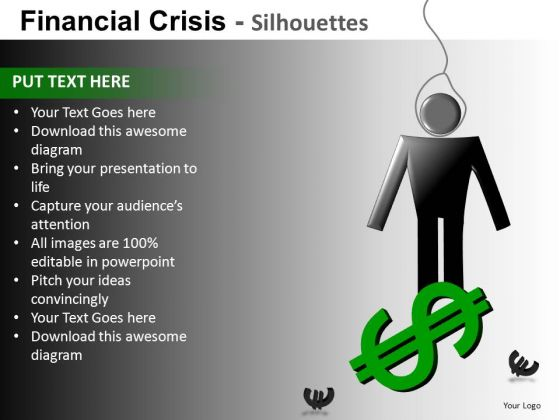 In Trouble Due To Debt PowerPoint Slides