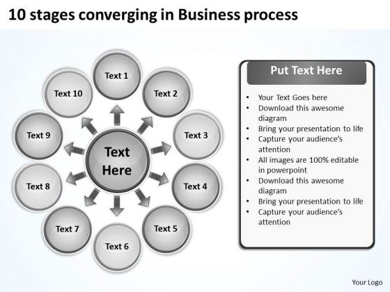 In World Business PowerPoint Templates Process Cycle Chart Slides