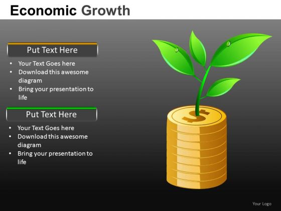 Increasing Wealth Money PowerPoint Slides