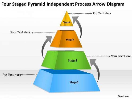 Independent Process Arrow Diagram Ppt Template For Business Plan PowerPoint Slides