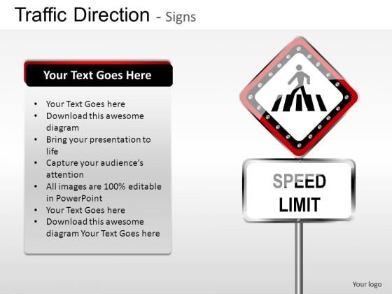 Indication Traffic Direction PowerPoint Slides And Ppt Diagram Templates