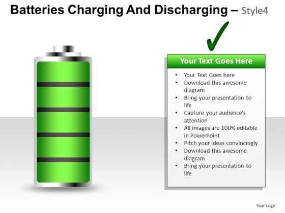 Indicator Batteries Charging And Discharging 4 PowerPoint Slides And Ppt Diagram Templates