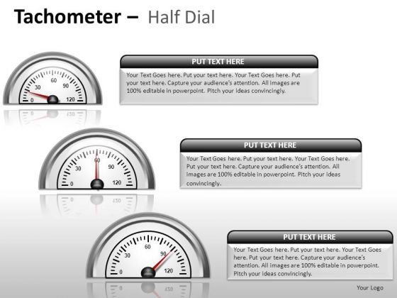 Industrial Tachometer Half Dial PowerPoint Slides And Ppt Diagram Templates