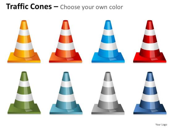 Industrial Traffic Cones PowerPoint Slides And Ppt Diagram Templates