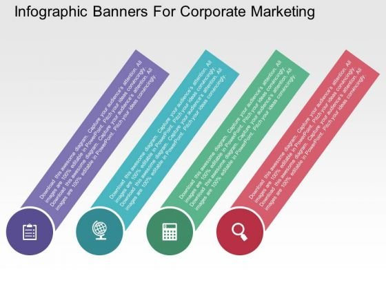 Infographic Banners For Corporate Marketing PowerPoint Templates