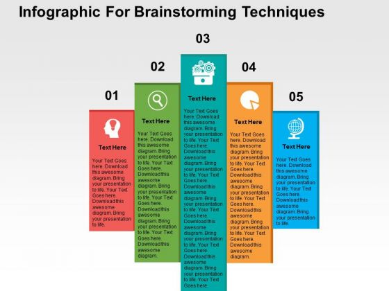 Infographic For Brainstorming Techniques PowerPoint Templates
