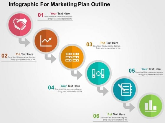 Infographic For Marketing Plan Outline PowerPoint Template
