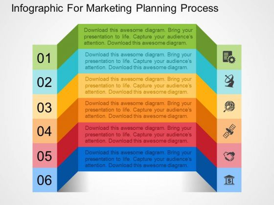Infographic For Marketing Planning Process PowerPoint Templates
