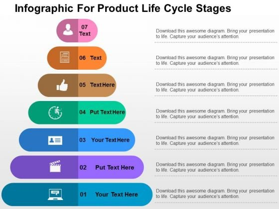 Infographic For Product Life Cycle Stages PowerPoint Template