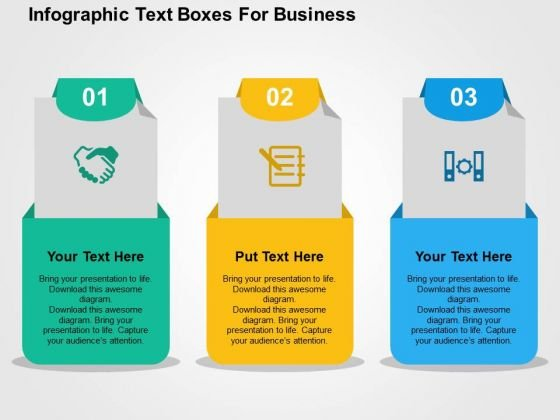 Infographic Text Boxes For Business PowerPoint Templates