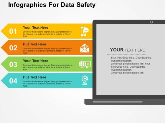 Infographics For Data Safety PowerPoint Templates