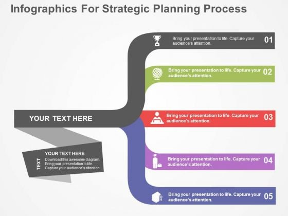 Infographics For Strategic Planning Process PowerPoint Template