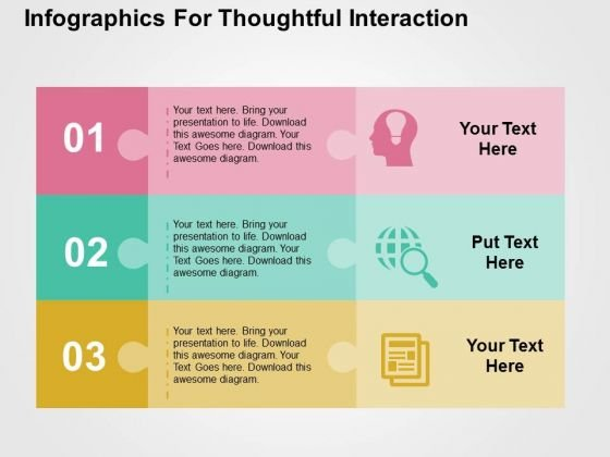 Infographics For Thoughtful Interacation PowerPoint Templates