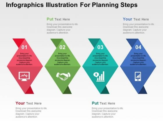 Infographics Illustration For Planning Steps PowerPoint Templates