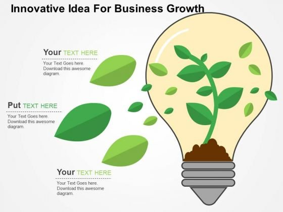 Innovative Idea For Business Growth PowerPoint Template