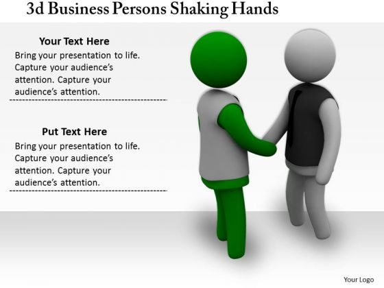 Innovative Marketing Concepts 3d Business Persons Shaking Hands Character Modeling
