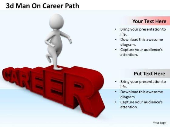 Innovative Marketing Concepts 3d Man Career Path Adaptable Business