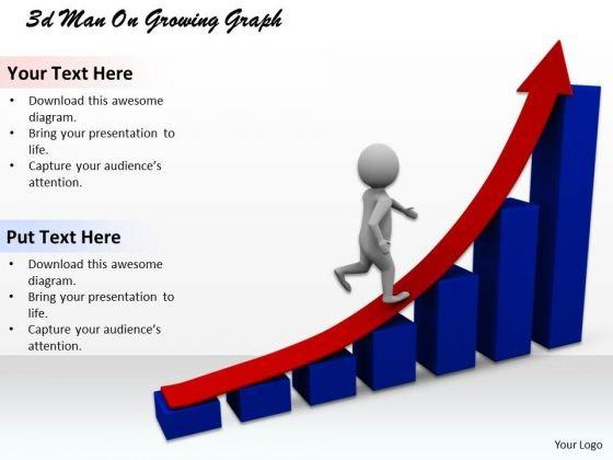 Innovative Marketing Concepts 3d Man Growing Graph Adaptable Business